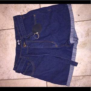 Cheap Monday size small jean shorts brand new !